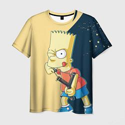 Футболка мужская Барт хулиган цвета 3D — фото 1