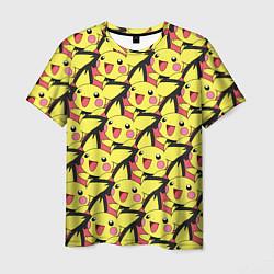 Мужская 3D-футболка с принтом Pikachu, цвет: 3D, артикул: 10104071903301 — фото 1