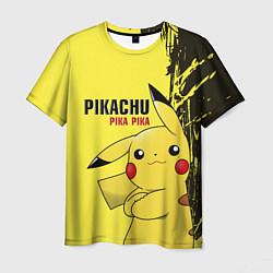 Футболка мужская Pikachu Pika Pika цвета 3D — фото 1