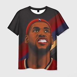 Мужская 3D-футболка с принтом LeBron Smile, цвет: 3D, артикул: 10105827803301 — фото 1