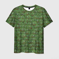 Мужская 3D-футболка с принтом Грустные лягушки, цвет: 3D, артикул: 10108993103301 — фото 1
