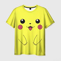 Мужская 3D-футболка с принтом Пикачу, цвет: 3D, артикул: 10110399503301 — фото 1