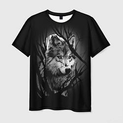 Футболка мужская Серый волк цвета 3D — фото 1