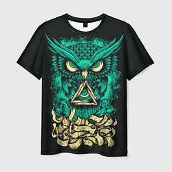 Футболка мужская Bring Me The Horizon: Owl цвета 3D-принт — фото 1