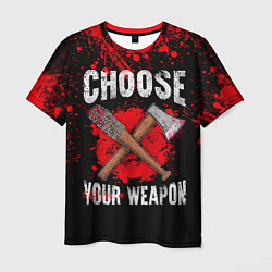 Мужская 3D-футболка с принтом Choose Your Weapon, цвет: 3D, артикул: 10114178603301 — фото 1