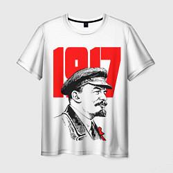 Футболка мужская Ленин 1917 цвета 3D-принт — фото 1