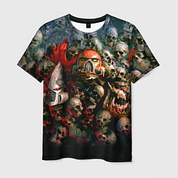 Футболка мужская Warhammer 40k: Skulls цвета 3D-принт — фото 1