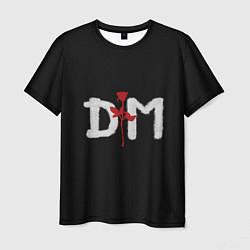 Футболка мужская DM: Rose цвета 3D-принт — фото 1