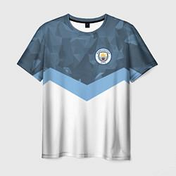 Футболка мужская Manchester City FC: Sport цвета 3D-принт — фото 1