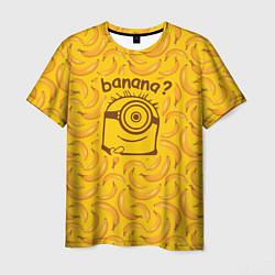 Футболка мужская Banana? цвета 3D — фото 1