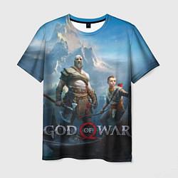Футболка мужская God of War цвета 3D-принт — фото 1