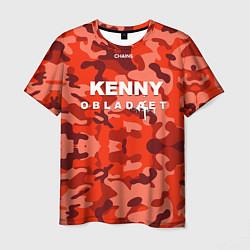 Футболка мужская Kenny: Obladaet Camo цвета 3D — фото 1