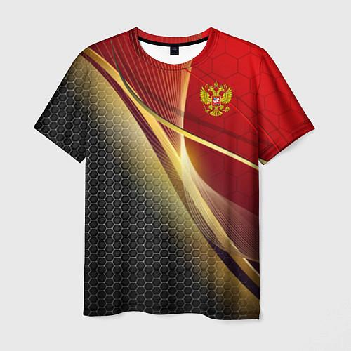 Мужская футболка RUSSIA SPORT: Gold Collection / 3D – фото 1