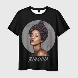 Футболка мужская Rihanna цвета 3D — фото 1