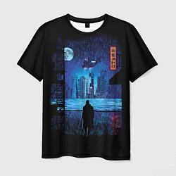 Футболка мужская Blade Runner: Dark Night цвета 3D-принт — фото 1