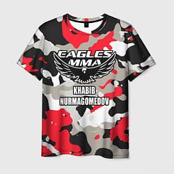 Футболка мужская Khabib Nurmagomedov: Red Camo цвета 3D — фото 1