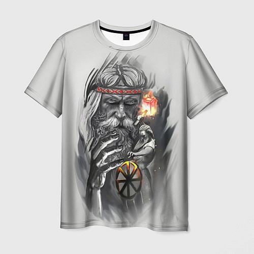 Мужская футболка Древний Сварог / 3D – фото 1