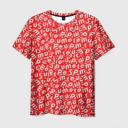 Футболка мужская Supreme: Red Letters цвета 3D — фото 1