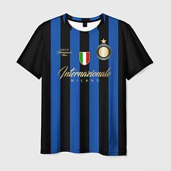 Футболка мужская Internazionale Milano цвета 3D-принт — фото 1