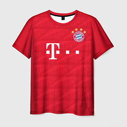 Футболка мужская FC Bayern: Lewandowski Home 19-20 цвета 3D — фото 1