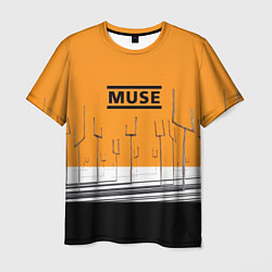 Футболка мужская Muse: Orange Mood цвета 3D-принт — фото 1