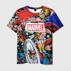 Мужская 3D-футболка с принтом Thor: MARVEL, цвет: 3D, артикул: 10181226903301 — фото 1