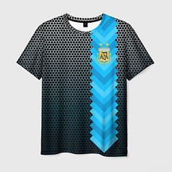 Футболка мужская Аргентина форма цвета 3D — фото 1