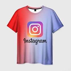 Мужская 3D-футболка с принтом INSTAGRAM, цвет: 3D, артикул: 10201237303301 — фото 1