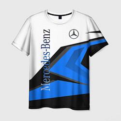 Футболка мужская Mercedes-Benz цвета 3D — фото 1