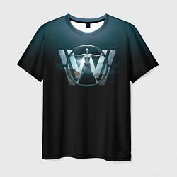 Футболка мужская Westworld Logo цвета 3D — фото 1