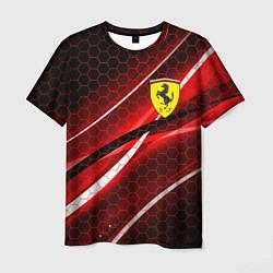 Мужская 3D-футболка с принтом FERRARI, цвет: 3D, артикул: 10212127703301 — фото 1