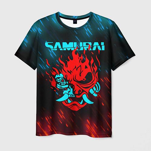 Мужская футболка CYBERPUNK 2077 SAMURAI / 3D-принт – фото 1