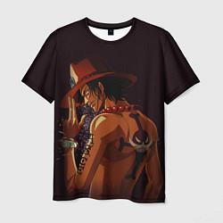 Футболка мужская One Piece Портгас Д Эйс цвета 3D — фото 1