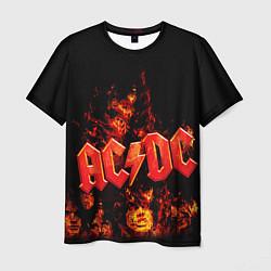 Мужская 3D-футболка с принтом AC/DC Flame, цвет: 3D, артикул: 10063952003301 — фото 1