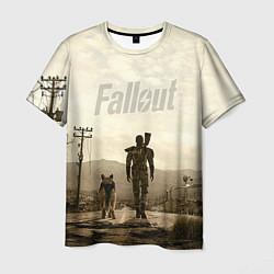 Мужская 3D-футболка с принтом Fallout City, цвет: 3D, артикул: 10073163803301 — фото 1