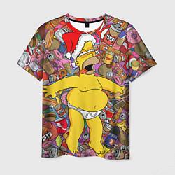 Футболка мужская Обжора Гомер цвета 3D-принт — фото 1