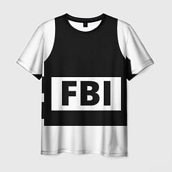 Футболка мужская Бронежилет FBI цвета 3D-принт — фото 1