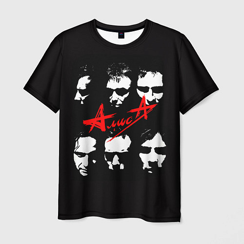 Мужская футболка Группа АлисА / 3D – фото 1