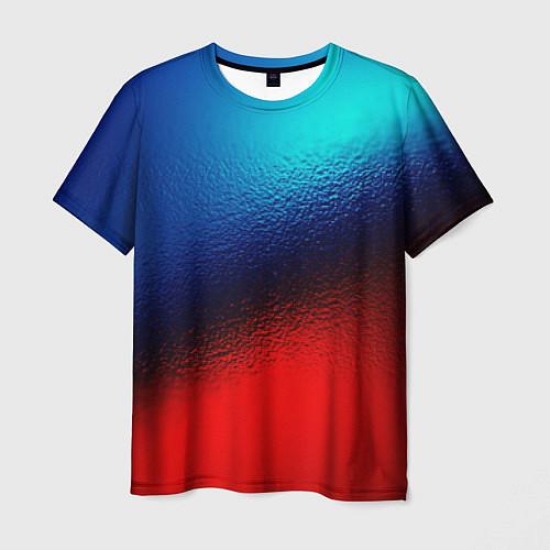 Мужская футболка Синий и красный / 3D-принт – фото 1