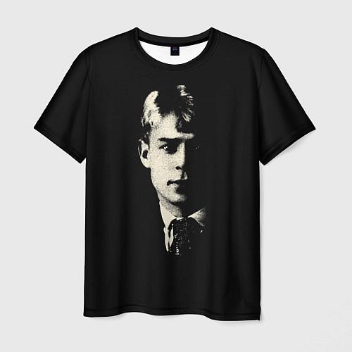 Мужская футболка Есенин Ч/Б / 3D – фото 1