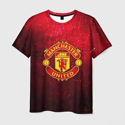 Футболка мужская Манчестер Юнайтед цвета 3D-принт — фото 1