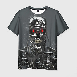 Футболка мужская Скелет Терминатора цвета 3D-принт — фото 1