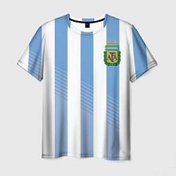Футболка мужская Сборная Аргентины: ЧМ-2018 цвета 3D — фото 1