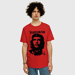 Футболка оверсайз мужская Che Guevara цвета красный — фото 2