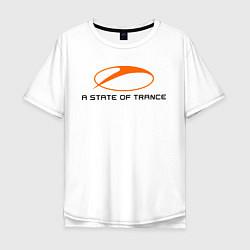 Мужская удлиненная футболка с принтом A State of Trance, цвет: белый, артикул: 10011042205753 — фото 1
