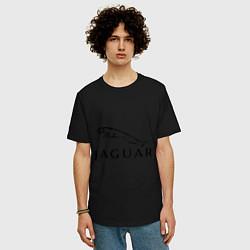 Футболка оверсайз мужская Jaguar цвета черный — фото 2