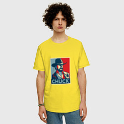 Футболка оверсайз мужская Chuck Poster цвета желтый — фото 2