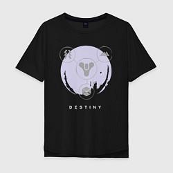 Футболка оверсайз мужская Destiny Planet цвета черный — фото 1