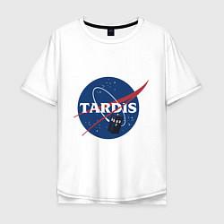 Футболка оверсайз мужская Tardis NASA цвета белый — фото 1