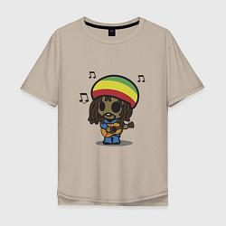 Мужская футболка оверсайз Маленький Боб Марли